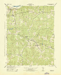 Powhatan Virginia Historical topographic map, 1:31680 scale, 7.5 X 7.5 Minute, Year 1943