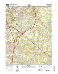 Prince George Virginia Current topographic map, 1:24000 scale, 7.5 X 7.5 Minute, Year 2016