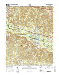 Providence Forge Virginia Current topographic map, 1:24000 scale, 7.5 X 7.5 Minute, Year 2016