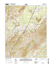 Rapidan Virginia Current topographic map, 1:24000 scale, 7.5 X 7.5 Minute, Year 2016 from Virginia Maps Store