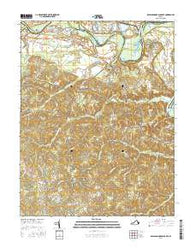 Rappahannock Academy Virginia Current topographic map, 1:24000 scale, 7.5 X 7.5 Minute, Year 2016