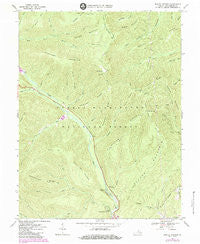 Rawley Springs Virginia Historical topographic map, 1:24000 scale, 7.5 X 7.5 Minute, Year 1967