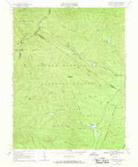 Reddish Knob Virginia Historical topographic map, 1:24000 scale, 7.5 X 7.5 Minute, Year 1967