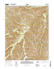 Rice Virginia Current topographic map, 1:24000 scale, 7.5 X 7.5 Minute, Year 2016 from Virginia Maps Store
