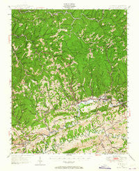 Richlands Virginia Historical topographic map, 1:24000 scale, 7.5 X 7.5 Minute, Year 1947