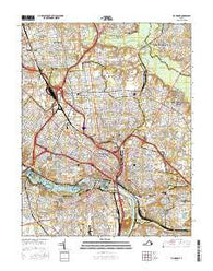 Richmond Virginia Current topographic map, 1:24000 scale, 7.5 X 7.5 Minute, Year 2016