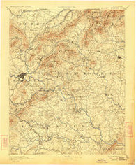 Roanoke Virginia Historical topographic map, 1:125000 scale, 30 X 30 Minute, Year 1891