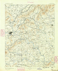 Roanoke Virginia Historical topographic map, 1:125000 scale, 30 X 30 Minute, Year 1890