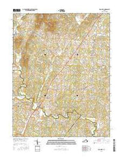 Rochelle Virginia Current topographic map, 1:24000 scale, 7.5 X 7.5 Minute, Year 2016 from Virginia Maps Store