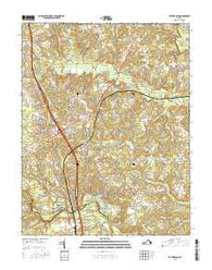 Ruther Glen Virginia Current topographic map, 1:24000 scale, 7.5 X 7.5 Minute, Year 2016