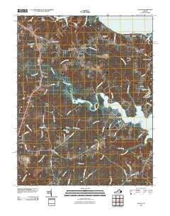 Saluda Virginia Historical topographic map, 1:24000 scale, 7.5 X 7.5 Minute, Year 2010