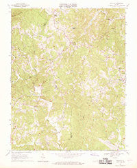 Sanville Virginia Historical topographic map, 1:24000 scale, 7.5 X 7.5 Minute, Year 1967