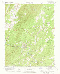 Schuyler Virginia Historical topographic map, 1:24000 scale, 7.5 X 7.5 Minute, Year 1967