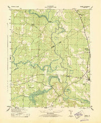 Sebrell Virginia Historical topographic map, 1:31680 scale, 7.5 X 7.5 Minute, Year 1943