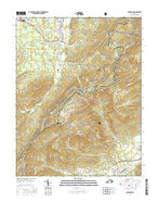 Sherando Virginia Current topographic map, 1:24000 scale, 7.5 X 7.5 Minute, Year 2016 from Virginia Map Store