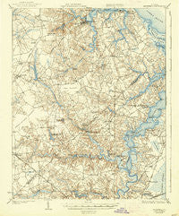Smithfield Virginia Historical topographic map, 1:62500 scale, 15 X 15 Minute, Year 1919