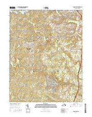 Spotsylvania Virginia Current topographic map, 1:24000 scale, 7.5 X 7.5 Minute, Year 2016 from Virginia Maps Store