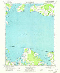 St Clements Island Maryland Historical topographic map, 1:24000 scale, 7.5 X 7.5 Minute, Year 1968