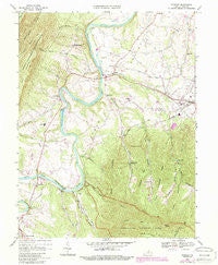 Stanley Virginia Historical topographic map, 1:24000 scale, 7.5 X 7.5 Minute, Year 1967