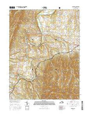 Stanley Virginia Current topographic map, 1:24000 scale, 7.5 X 7.5 Minute, Year 2016 from Virginia Maps Store
