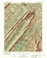 Strasburg Virginia Historical topographic map, 1:62500 scale, 15 X 15 Minute, Year 1947