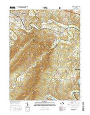 Strasburg Virginia Current topographic map, 1:24000 scale, 7.5 X 7.5 Minute, Year 2016 from Virginia Maps Store
