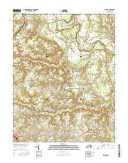 Studley Virginia Current topographic map, 1:24000 scale, 7.5 X 7.5 Minute, Year 2016 from Virginia Maps Store