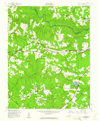 Sutherland Virginia Historical topographic map, 1:24000 scale, 7.5 X 7.5 Minute, Year 1943