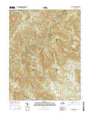 Swift Run Gap Virginia Current topographic map, 1:24000 scale, 7.5 X 7.5 Minute, Year 2016 from Virginia Maps Store
