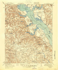 Tappahannock Virginia Historical topographic map, 1:62500 scale, 15 X 15 Minute, Year 1918