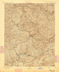 Tazewell Virginia Historical topographic map, 1:125000 scale, 30 X 30 Minute, Year 1895