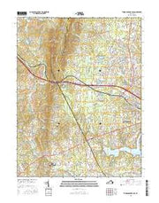 Thoroughfare Gap Virginia Current topographic map, 1:24000 scale, 7.5 X 7.5 Minute, Year 2016 from Virginia Maps Store
