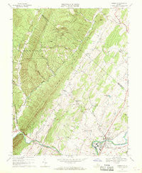Timberville Virginia Historical topographic map, 1:24000 scale, 7.5 X 7.5 Minute, Year 1967