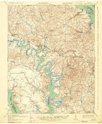 Toano Virginia Historical topographic map, 1:62500 scale, 15 X 15 Minute, Year 1918