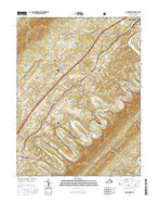 Toms Brook Virginia Current topographic map, 1:24000 scale, 7.5 X 7.5 Minute, Year 2016 from Virginia Map Store