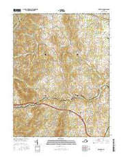 Upperville Virginia Current topographic map, 1:24000 scale, 7.5 X 7.5 Minute, Year 2016 from Virginia Maps Store