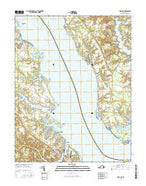 Urbanna Virginia Current topographic map, 1:24000 scale, 7.5 X 7.5 Minute, Year 2016 from Virginia Map Store