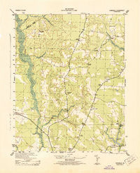 Vicksville Virginia Historical topographic map, 1:31680 scale, 7.5 X 7.5 Minute, Year 1943
