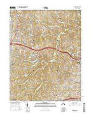 Vienna Virginia Current topographic map, 1:24000 scale, 7.5 X 7.5 Minute, Year 2016 from Virginia Maps Store