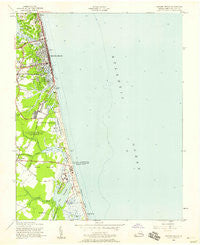 Virginia Beach Virginia Historical topographic map, 1:24000 scale, 7.5 X 7.5 Minute, Year 1955