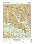 Walkers Virginia Current topographic map, 1:24000 scale, 7.5 X 7.5 Minute, Year 2016 from Virginia Map Store