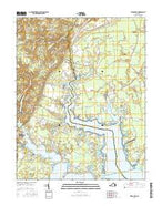 Ware Neck Virginia Current topographic map, 1:24000 scale, 7.5 X 7.5 Minute, Year 2016 from Virginia Map Store