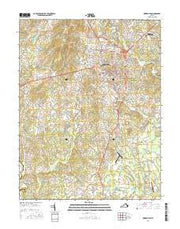 Warrenton Virginia Current topographic map, 1:24000 scale, 7.5 X 7.5 Minute, Year 2016 from Virginia Maps Store