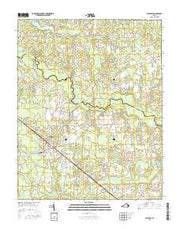 Waverly Virginia Current topographic map, 1:24000 scale, 7.5 X 7.5 Minute, Year 2016 from Virginia Maps Store