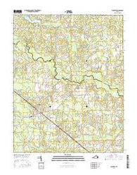 Waverly Virginia Current topographic map, 1:24000 scale, 7.5 X 7.5 Minute, Year 2016
