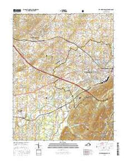 Waynesboro West Virginia Current topographic map, 1:24000 scale, 7.5 X 7.5 Minute, Year 2016 from Virginia Maps Store