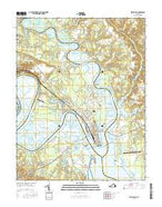 West Point Virginia Current topographic map, 1:24000 scale, 7.5 X 7.5 Minute, Year 2016 from Virginia Map Store