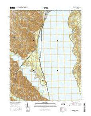 Widewater Virginia Current topographic map, 1:24000 scale, 7.5 X 7.5 Minute, Year 2016 from Virginia Maps Store