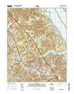 Williamsburg Virginia Current topographic map, 1:24000 scale, 7.5 X 7.5 Minute, Year 2016 from Virginia Map Store