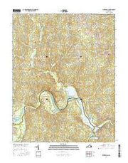 Winterpock Virginia Current topographic map, 1:24000 scale, 7.5 X 7.5 Minute, Year 2016 from Virginia Maps Store